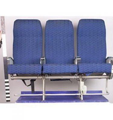 20 X Triple Economy Blue Cloth Seats