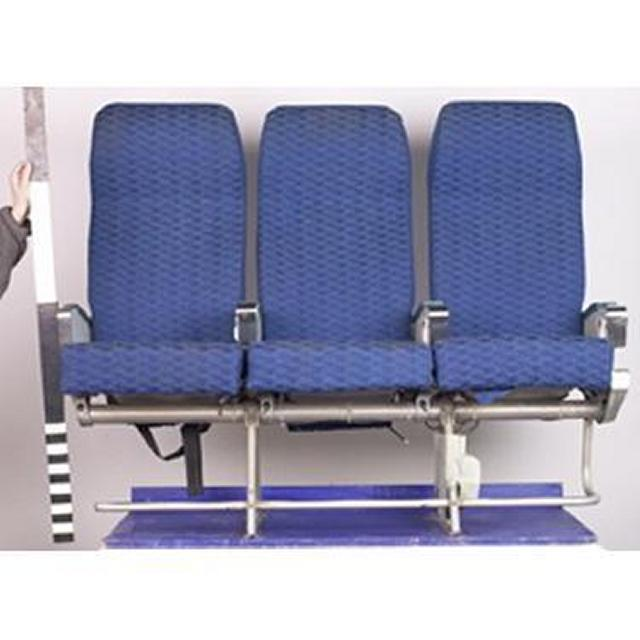 20 X Triple Economy Blue Cloth Seats