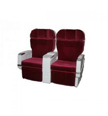 3 X 1St Class Aeroplane Bed Base Unit With Red Reclining Seats To Match