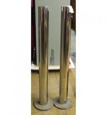 Chrome Barrier Posts X 2