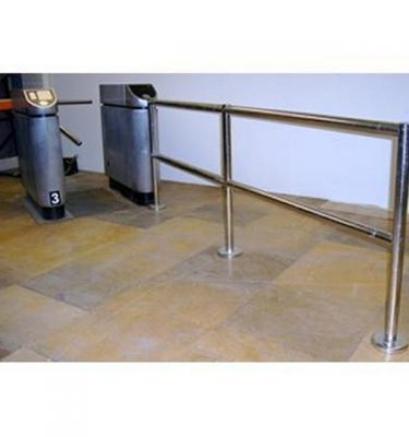 Turnstile With Chrome Barrier X 13 Uprights 20 Lenghts