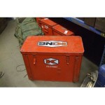 "X4 Red Metal Boxes 30"" X 15"" X 21.5"""
