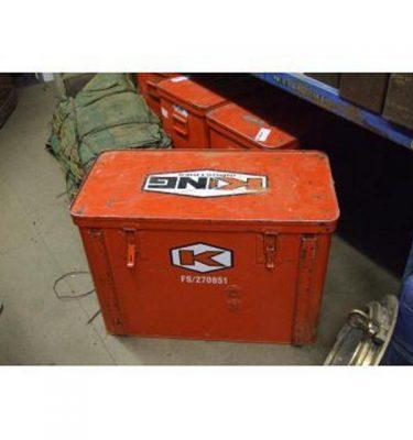 "X4 Red Metal Boxes 30"" X 15"" X 21.5"""