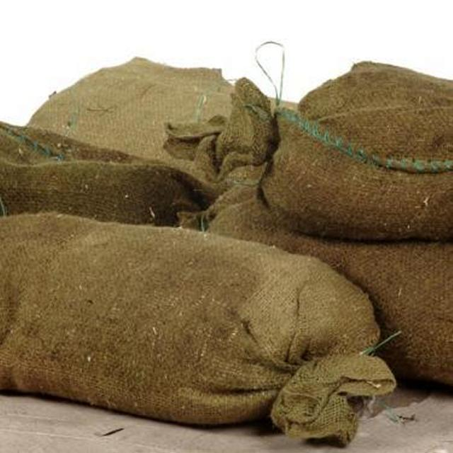 Sandbags Filled With Sawdust