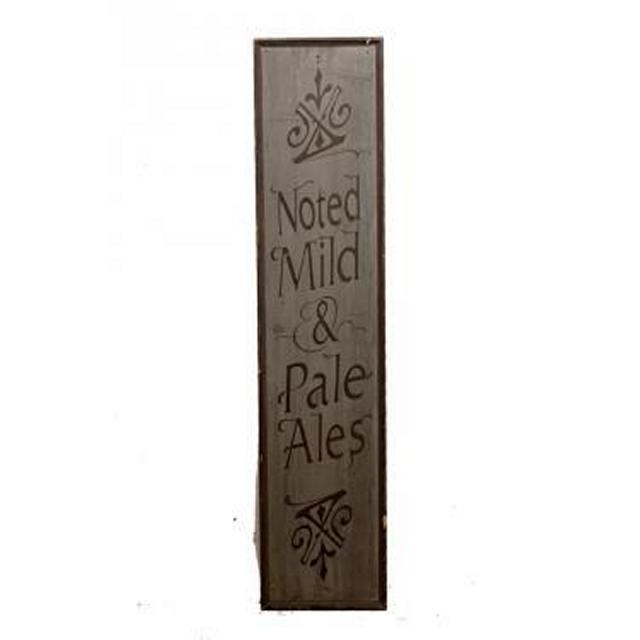 Pub Noted Mild And Pale Ales Wooden Signage 1360X305Mm
