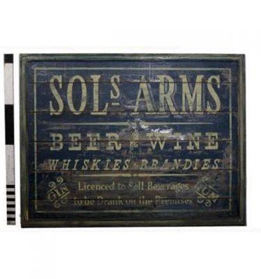 Pub Sols Arms Wooden Signage 1295X1700