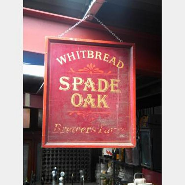 Pub Sign Whitbread Spade Oak