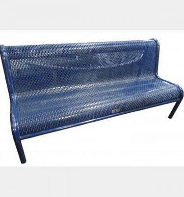 Blue Metal Frame Benches X10  830X1850Mm