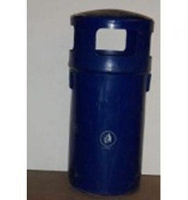 Blue Plastic Street Bin 104Cm X1