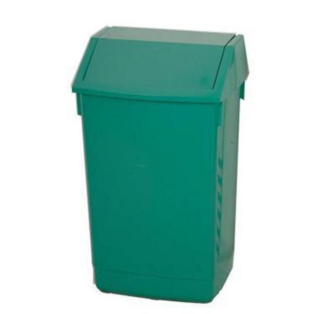 Green Plastic Waste Bin 680X420X330