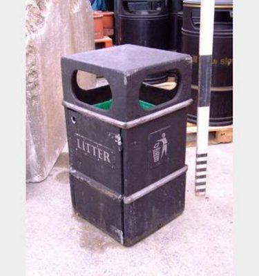 Square Street Litter Bin X7