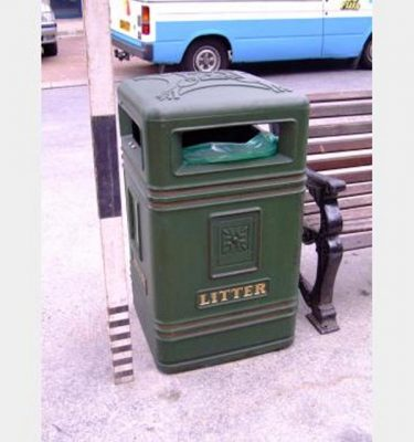 Green Plastic Exterior Bin X6