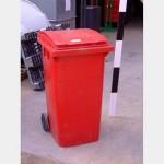 Red Domestic Wheelie Bins X4