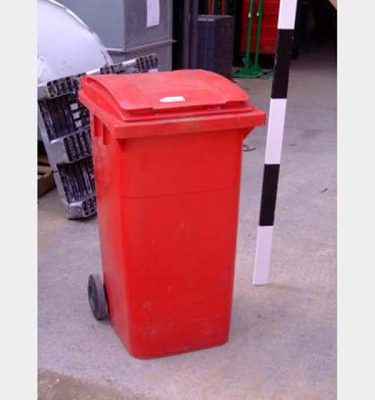 Red Domestic Wheelie Bins X4