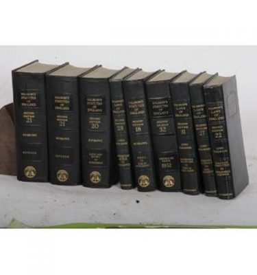 Books 'Halsbury Statutes Of England Laws Of England' X9