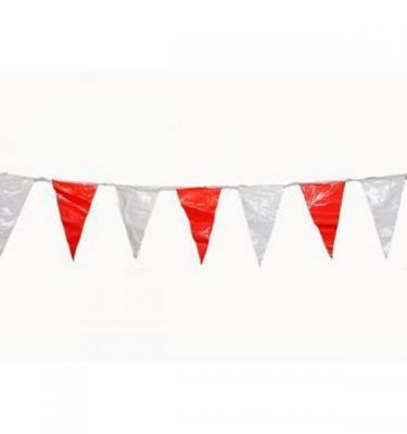 Bunting Red And White Plastic