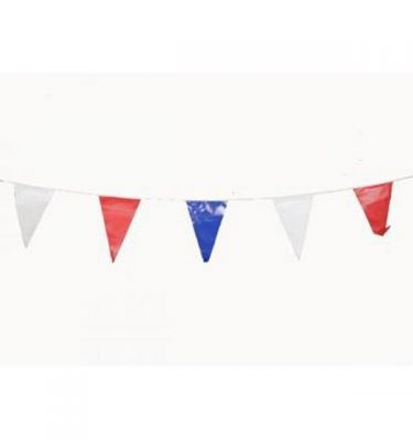 Bunting Vinyl Red Blue And White
