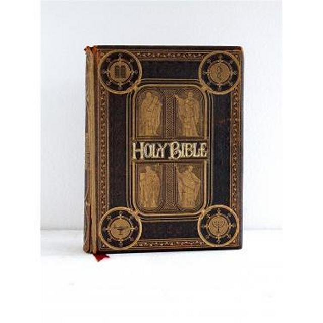 Holy Bible LargeLeather And Gilt Images Of Phrophets On Cover 370Mm X 275Mm
