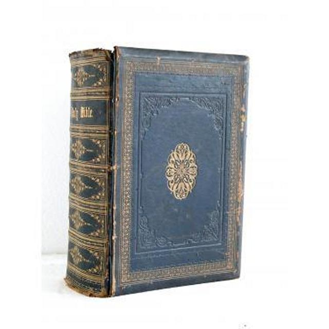 Holy Bible Black Leather And Gilt (Very Deep) 350Mm X 250Mm
