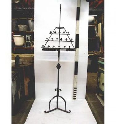 Candleabra X1 Iron (Floor) Praying 3 Tier 1600Mm