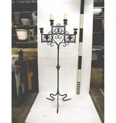 Candleabra X1 Iron (Floor) 4 Way Arts And Crafts Style 1650Mm