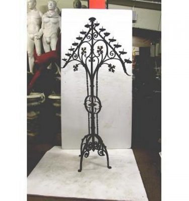 "Candleabra Iron Triangle Top15 Candles 80"""""""" X 48"""""""" Wide"