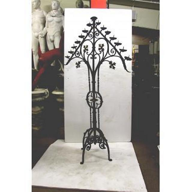 """Candleabra Iron Triangle Top15 Candles 80"""""""""""""""" X 48"""""""""""""""" Wide"""