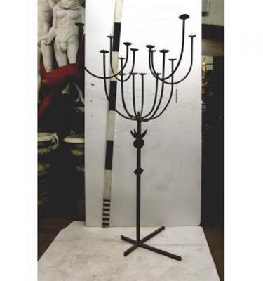 "X2 Candleabra Wrought Iron16 Candles 6'6"""""""" X 3'Dia"