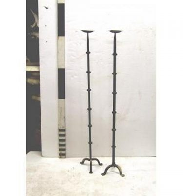 X2 Candleabra Wrought Iron Single 51""""""""