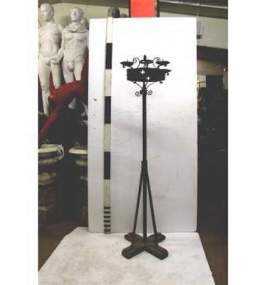 "X7 Candleabra Wrought Iron4 Way 6"""""""" X 1""""""""6"""""""""