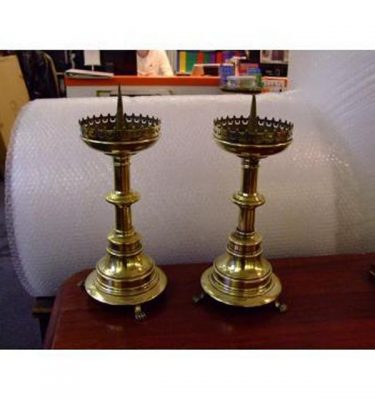 Brass Candlesticks X 2 Off