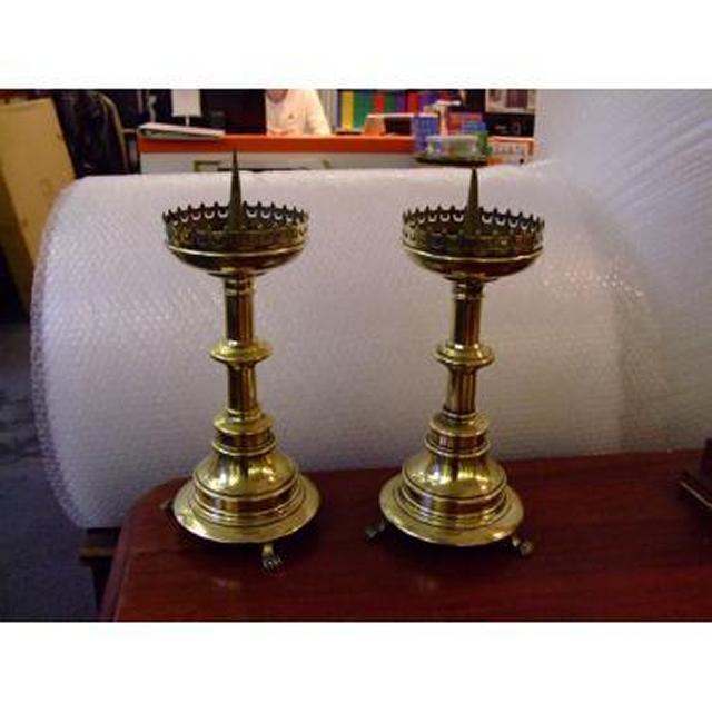 Brass Candlesticks X 2 Off