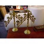 Brass Adjustable 7 Way Candlesticks