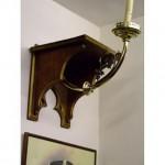 Pair Of Wall Shelf And Brass Candlesticks  X 2 Off