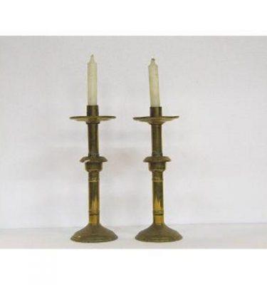 Candlestick X3 Brass Single 360Mm