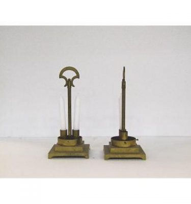 Candlestick X4  Brass 2 Way 330Mm X (140Mm Base)
