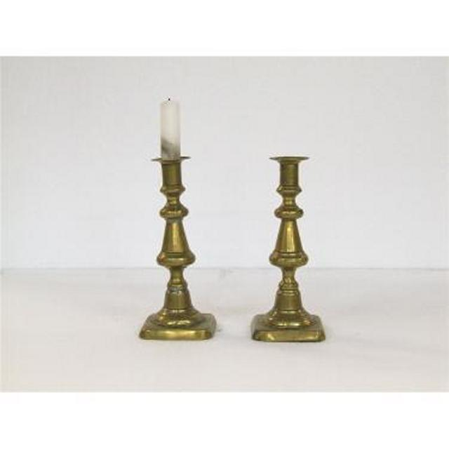 Candlestick X2 Brass Single 200Mm