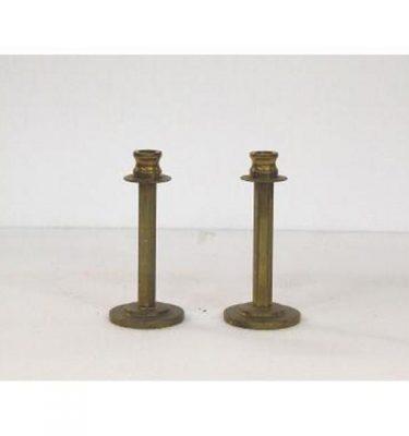 Candlestick X2 Brass Single 150Mm
