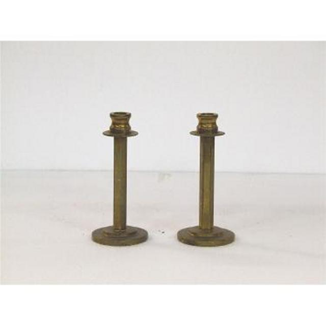 Candlestick X2 Brass Single 150Mm