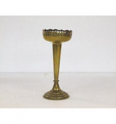 Candlestick X1 Brass Single 210Mm