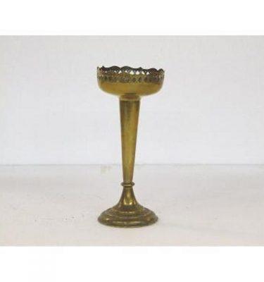 Candlestick X1 Brass Single 210Mm