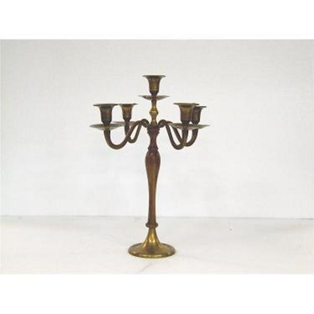 Candlestick X2 Brass 5 Way 390Mm