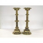 Candlestick X2 Brass Single 490Mm (Good Quality)