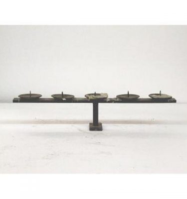 Candlestick X1 Brass Single 300Mm