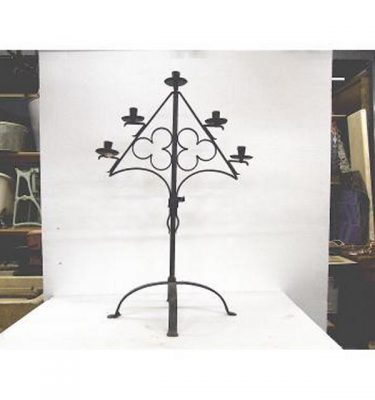 Candlestick X1 Brass Single 280Mm