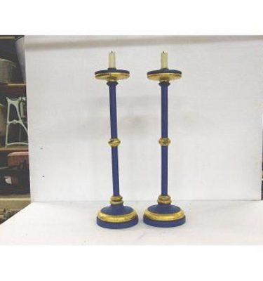 Candlesticks X2 Bronze Ornate Single 490Mm (Very Good)