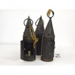 Candlestick X1 Iron And Brass 3 Way (Pagan Style) 420Mm