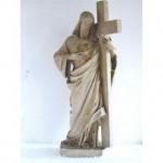 Statue (Plaster) Jesus Carring Cross Gilt Heart On Chest (Very Large) 1118Mm