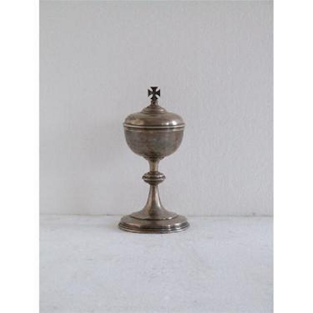 Silver Domed Incense Burner With Cross On Lid 229Mm