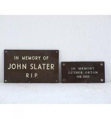 Metal Grave Plaques (128Mm X 76Mm) And (102Mm X 51Mm)